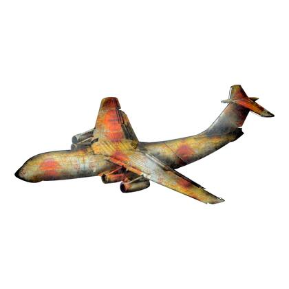 Jumbo Jet Collection KE-1002-01 Wall Decor with Iron Frame in Multicolor