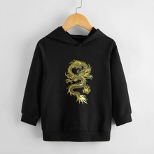 Toddler Boys Chinese Dragon Graphic Hoodie