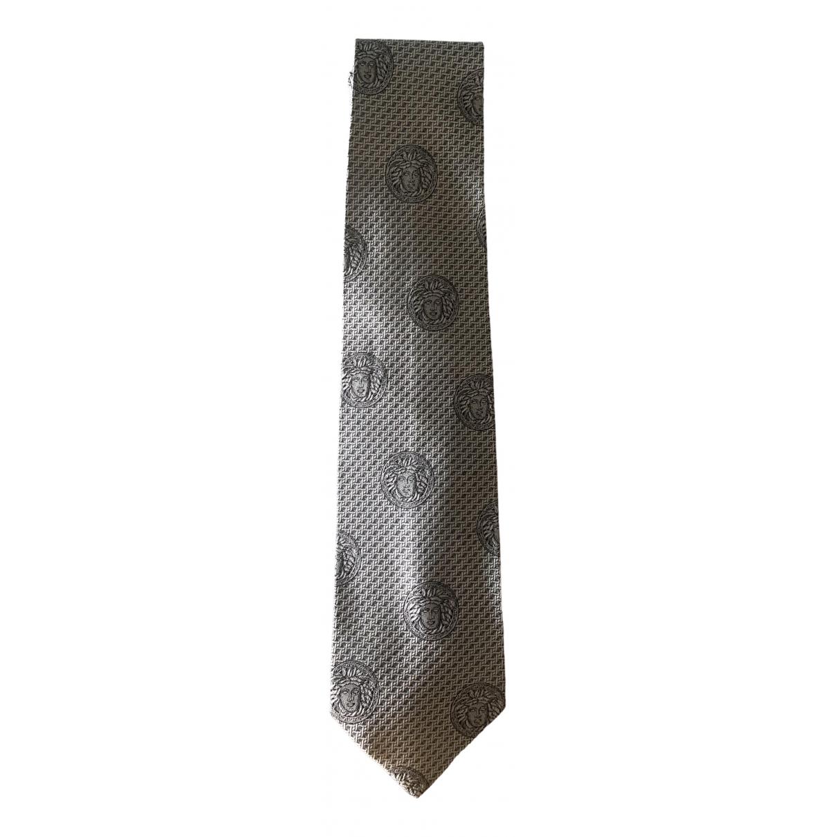 Gianni Versace \N Grey Cotton Ties for Men \N