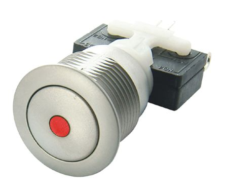 ITW H48M Single Pole Double Throw (SPDT) Latching Blue LED Push Button Switch, IP67, 19.56 (Dia.)mm, Panel Mount,