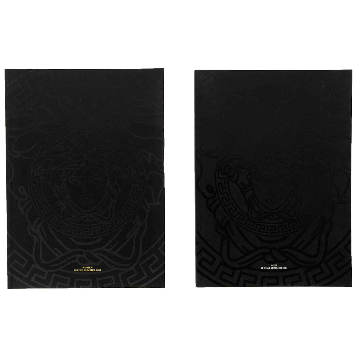 Versace \N Black Cotton Fashion for Life & Living \N