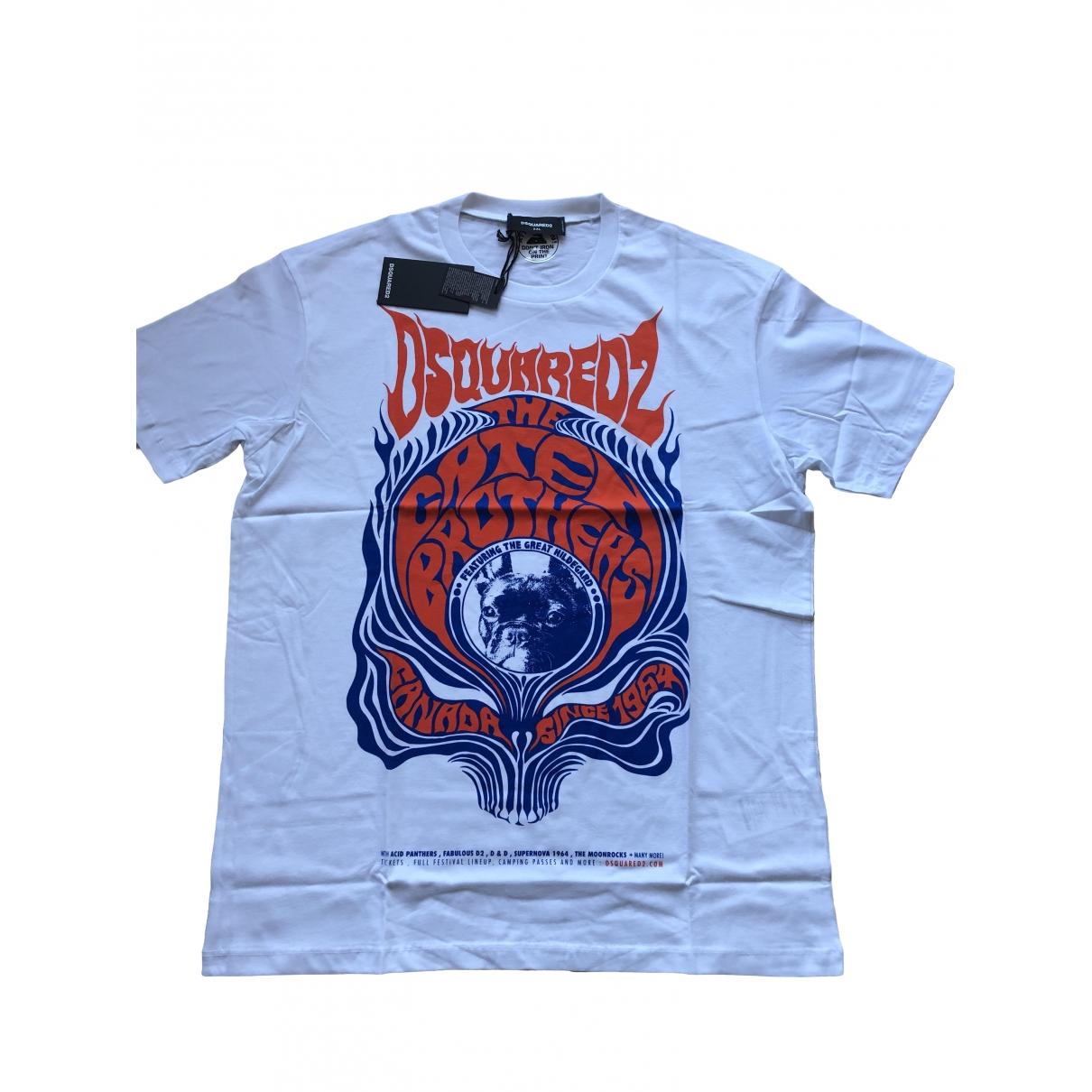Dsquared2 \N White Cotton T-shirts for Men XXL International