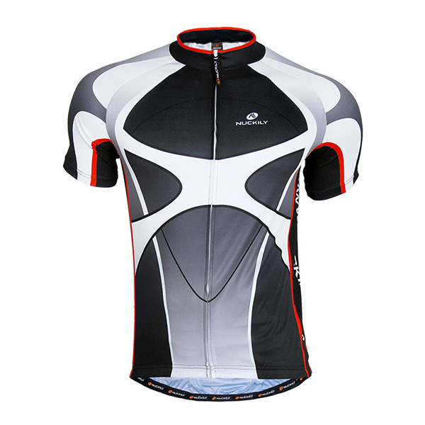 Male Black Breathable Bike Jersey Full Zipper Quick-Dry Cycling Jersey