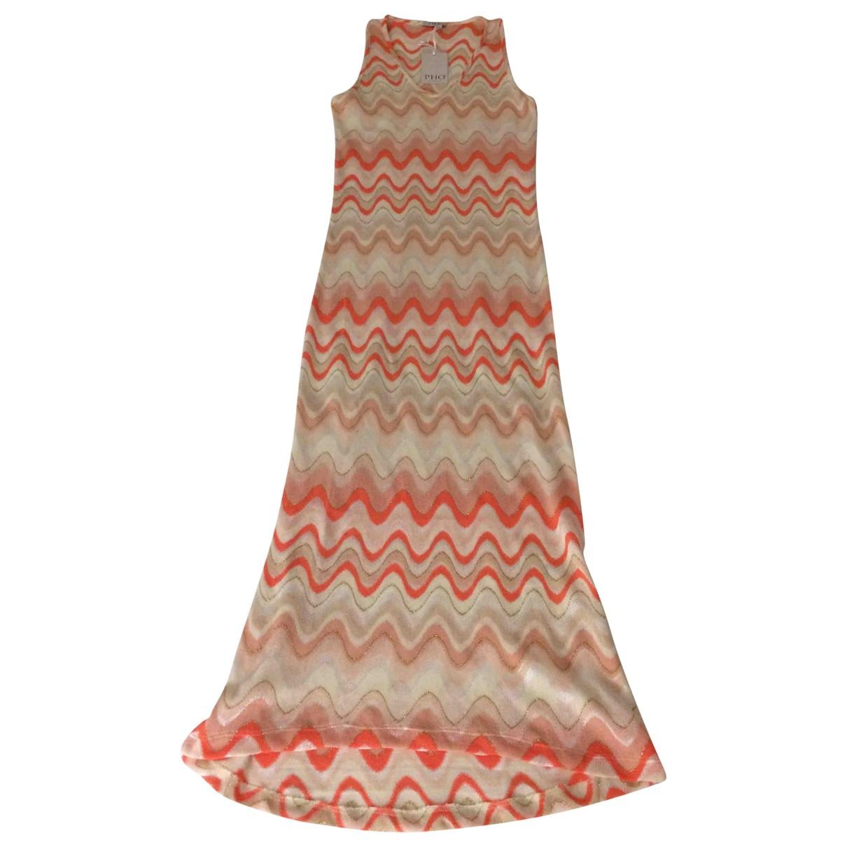 Non Signé / Unsigned \N Metallic Cotton dress for Women M International