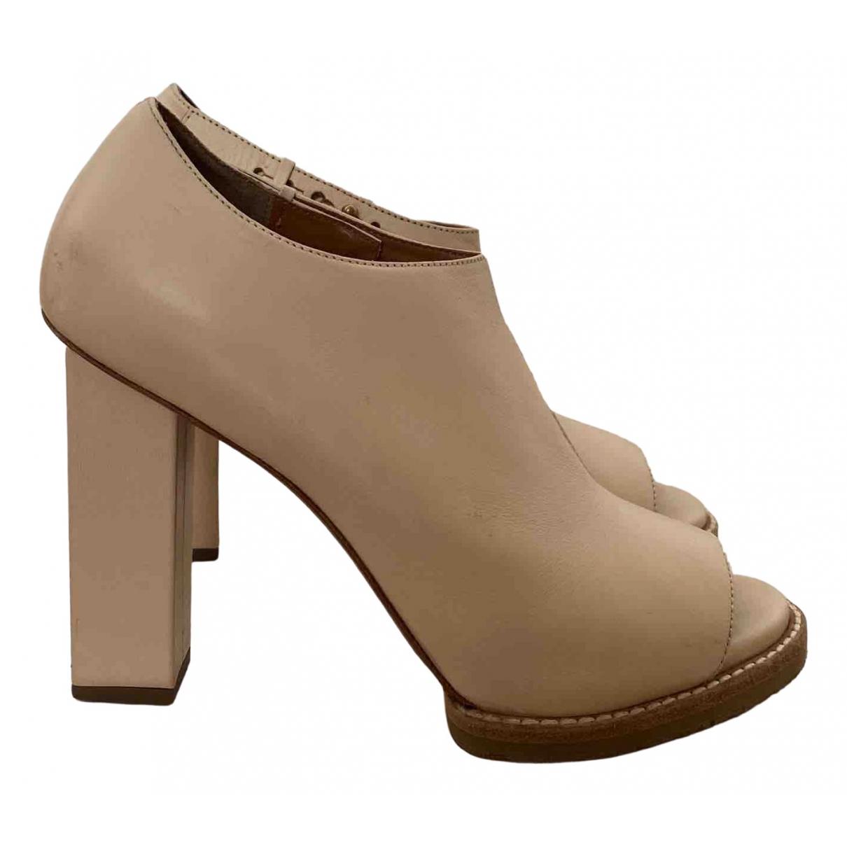 & Stories N Beige Leather Heels for Women 40 EU