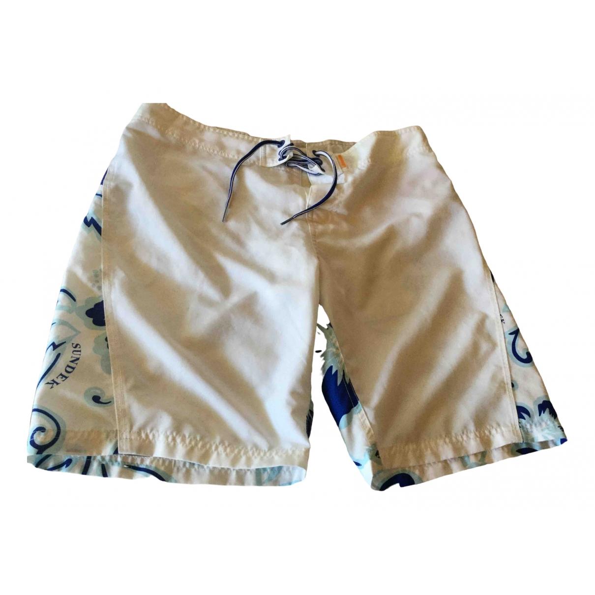 Sundek \N Shorts in  Weiss Polyester