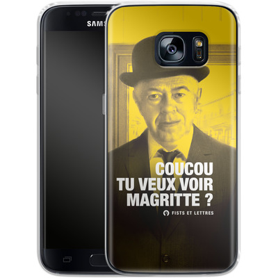 Samsung Galaxy S7 Silikon Handyhuelle - Tu Veux Voir Magritte von Fists Et Lettres