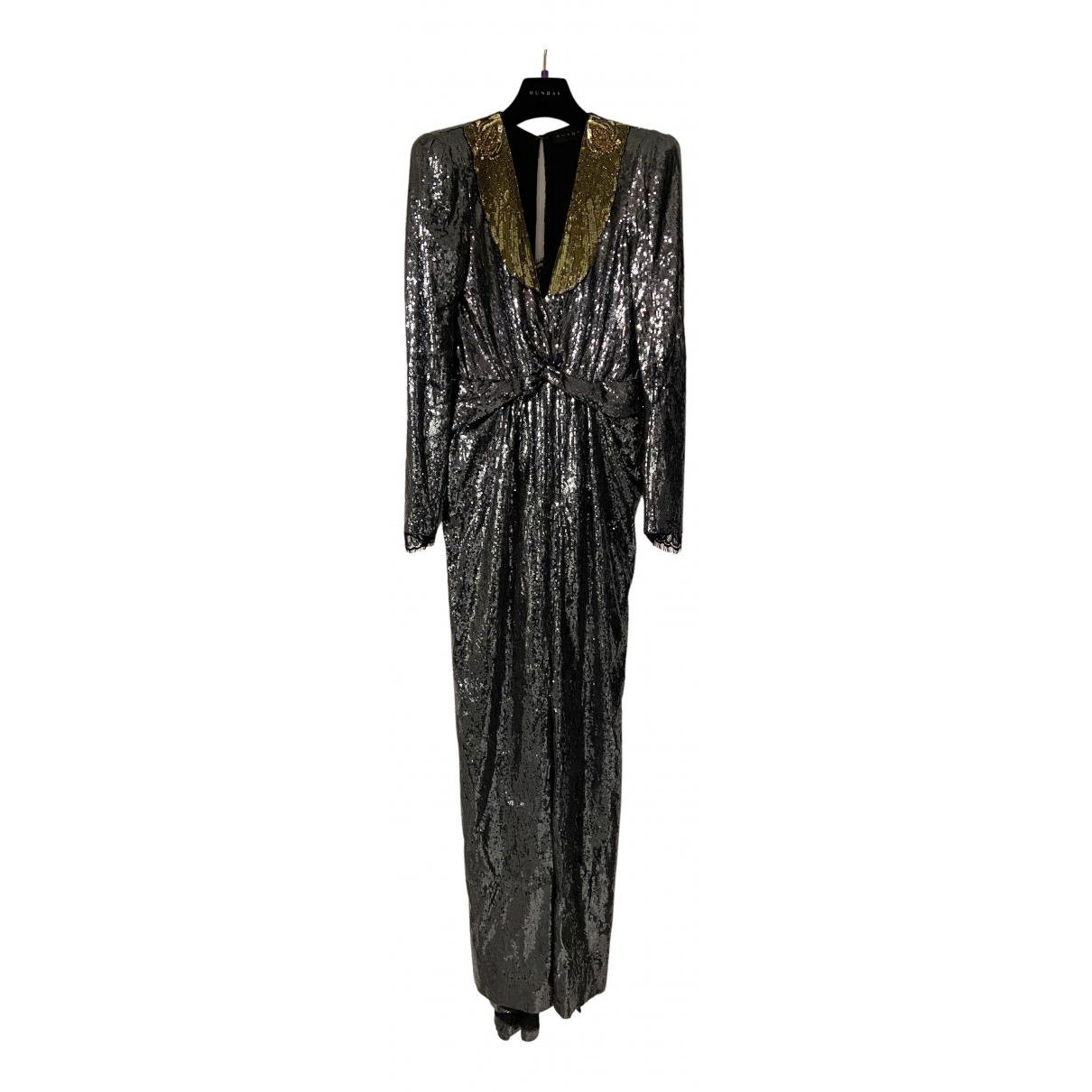 Dundas N Silver Glitter dress for Women 42 IT