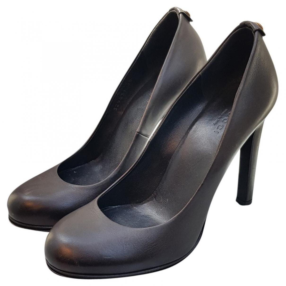 Gucci \N Black Leather Heels for Women 38 EU