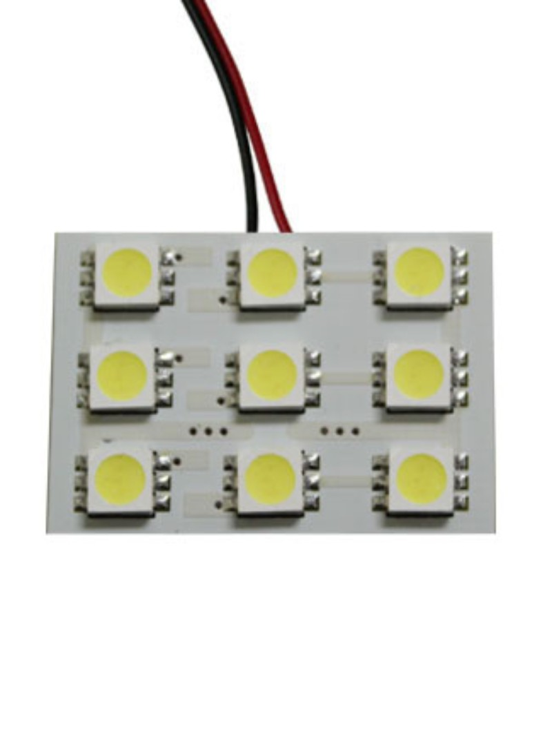 Race Sport Lighting RS-5050-9DOME-R Red 9 Chip 5050 LED Dome Panel  Individual