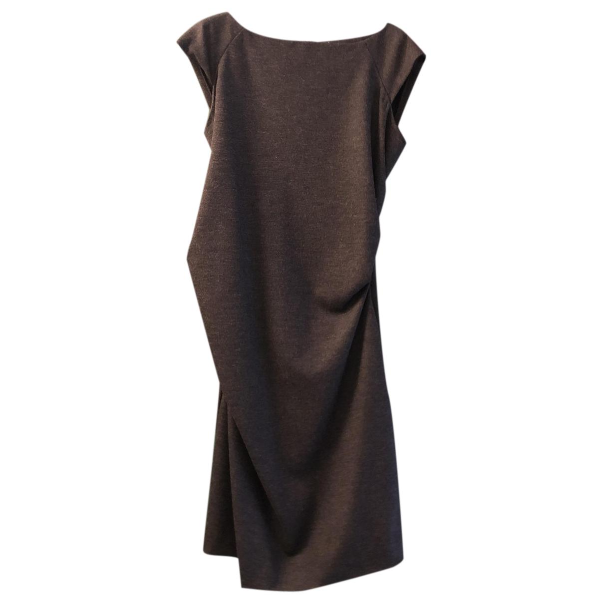 Diane Von Furstenberg N Anthracite Wool dress for Women 10 US
