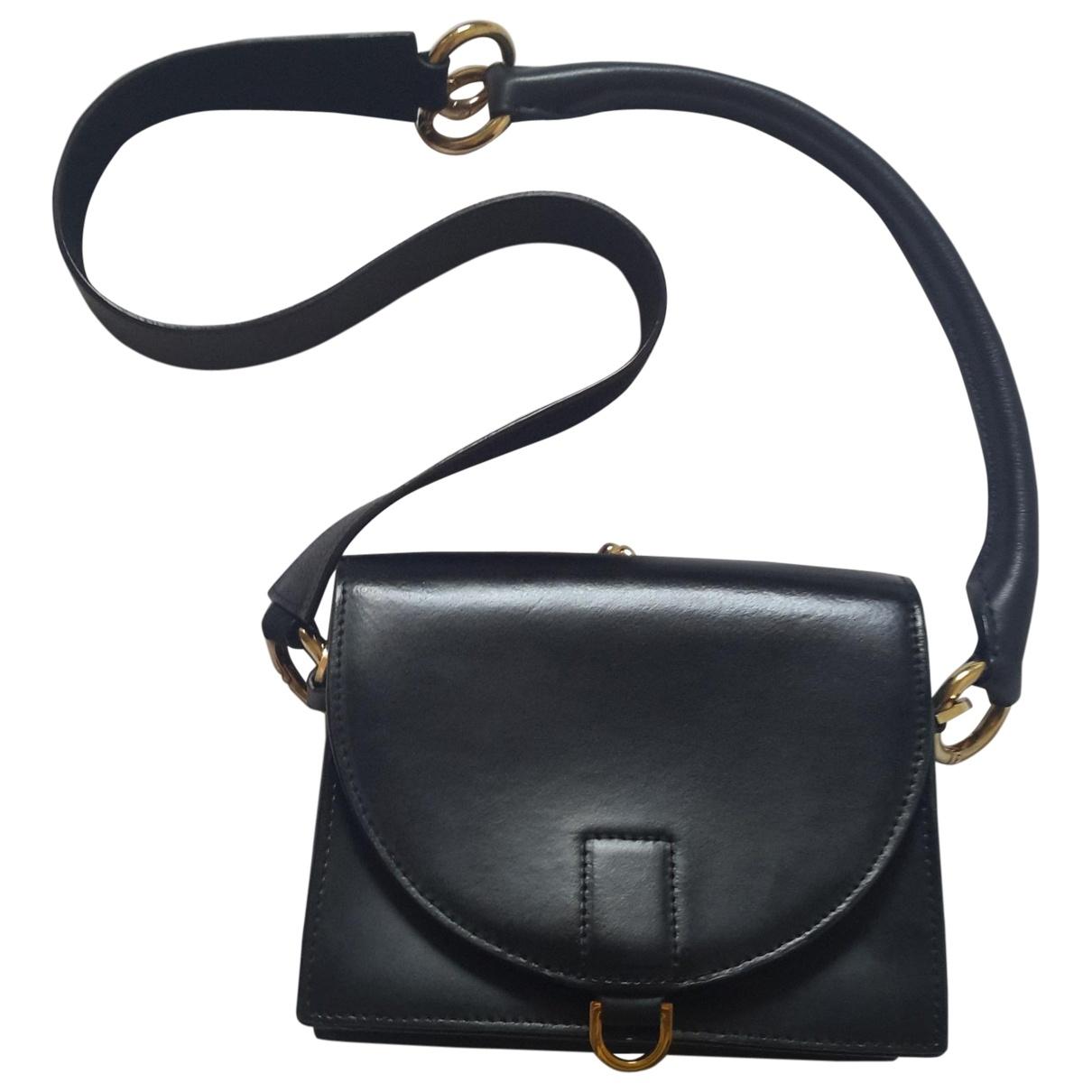 Sacai - Pochette   pour femme en cuir - noir