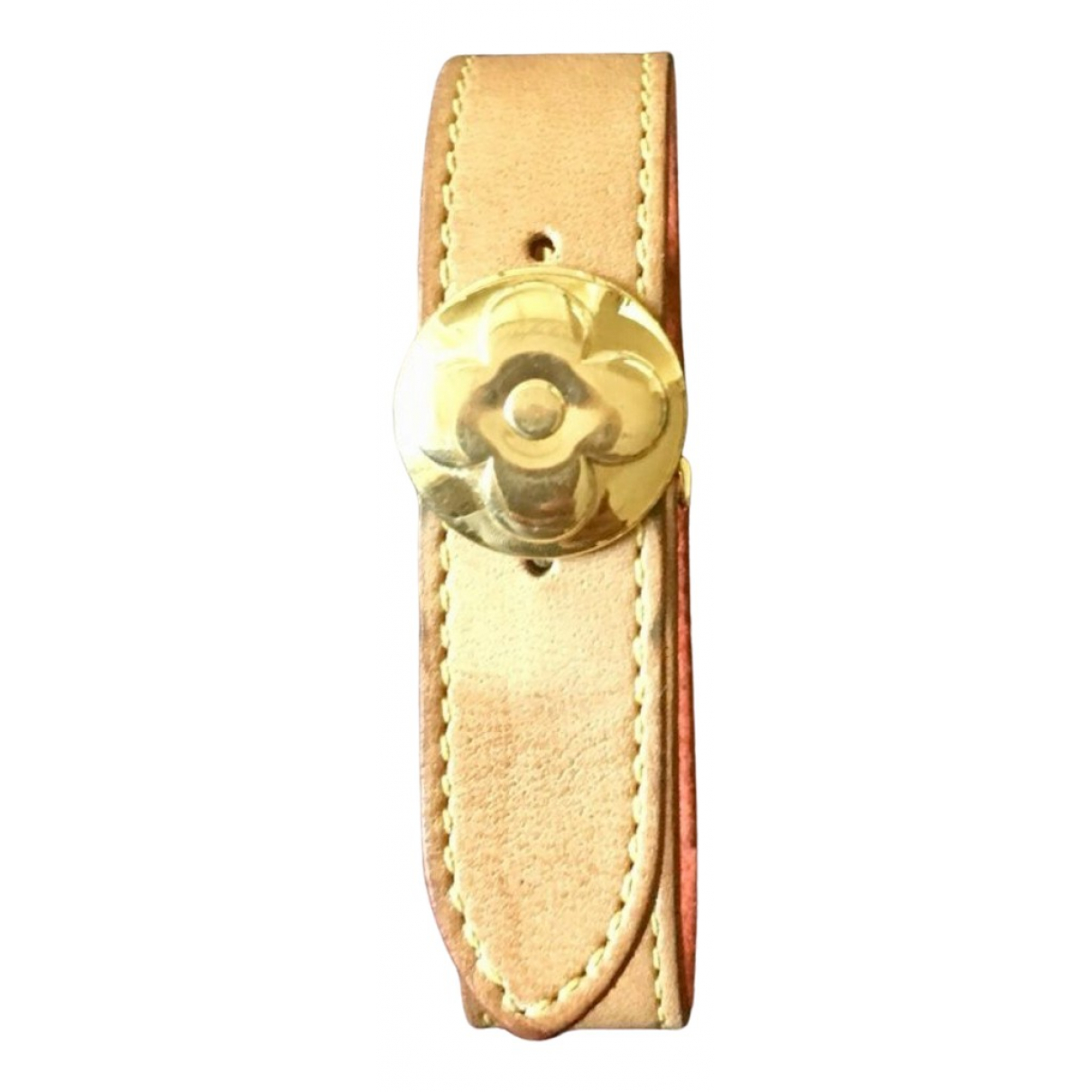 Louis Vuitton \N Armband in  Beige Leder