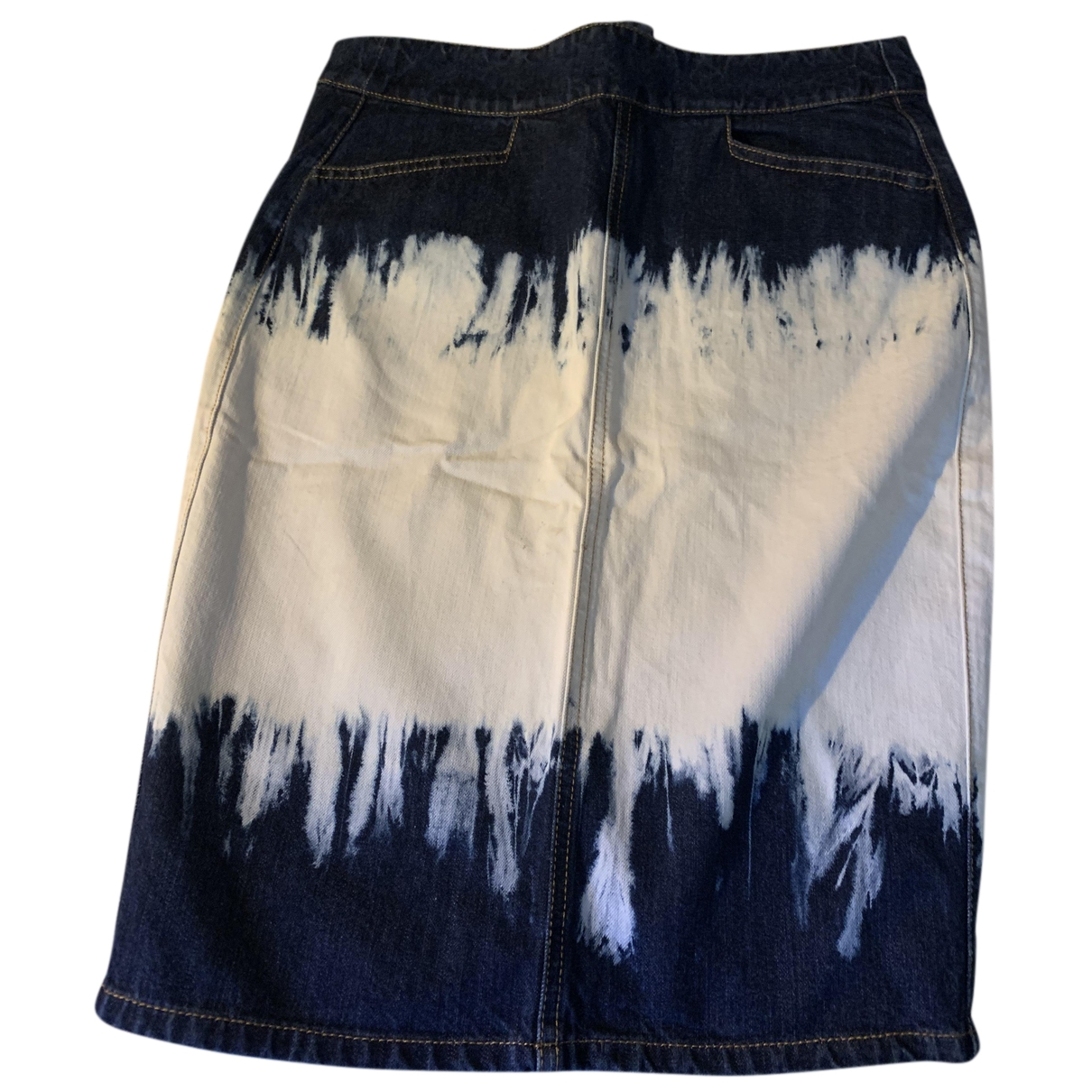 Isabel Marant Etoile - Jupe   pour femme en denim - bleu