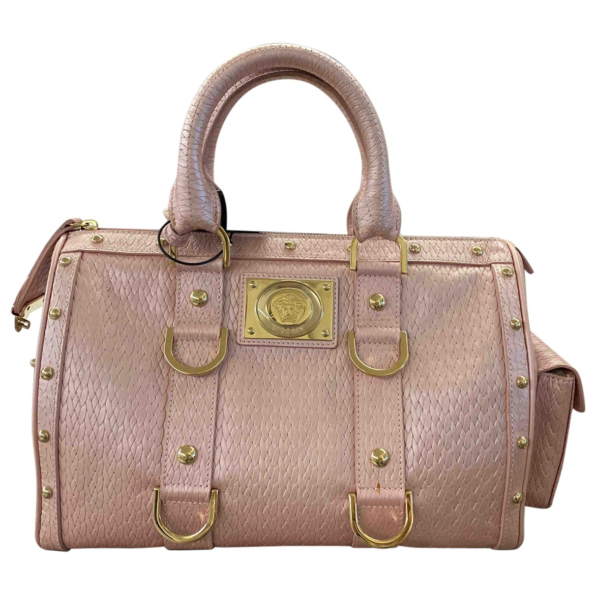 Versace - Sac a main   pour femme en cuir - rose