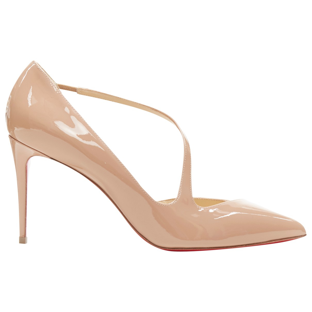 Christian Louboutin \N Beige Patent leather Heels for Women 40.5 EU