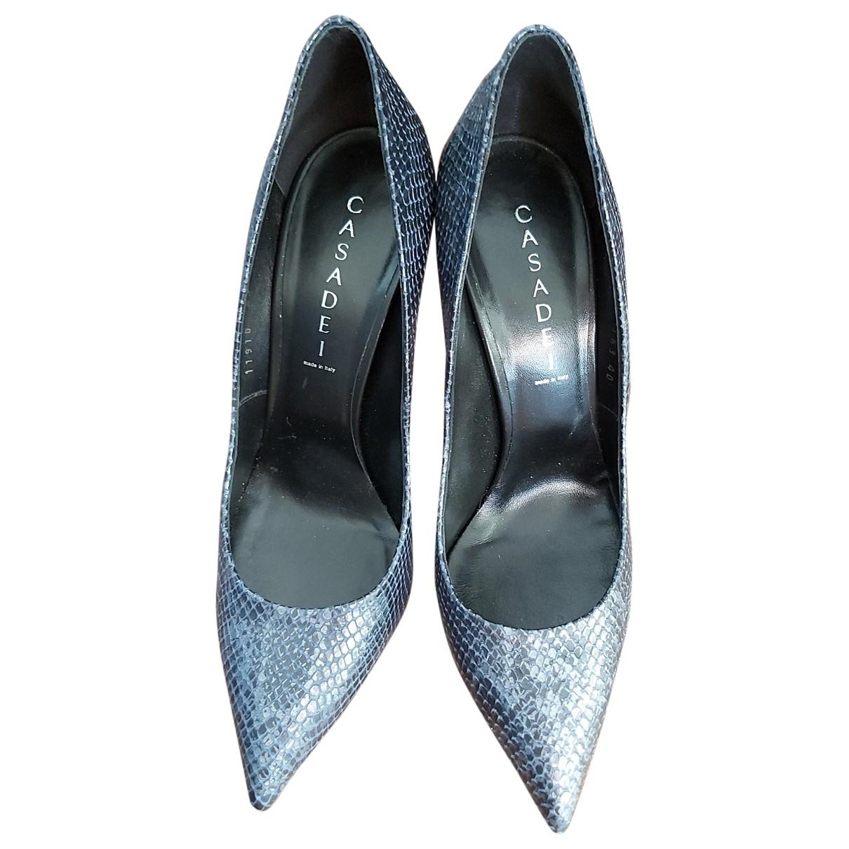 Casadei \N Blue Leather Heels for Women 40 EU