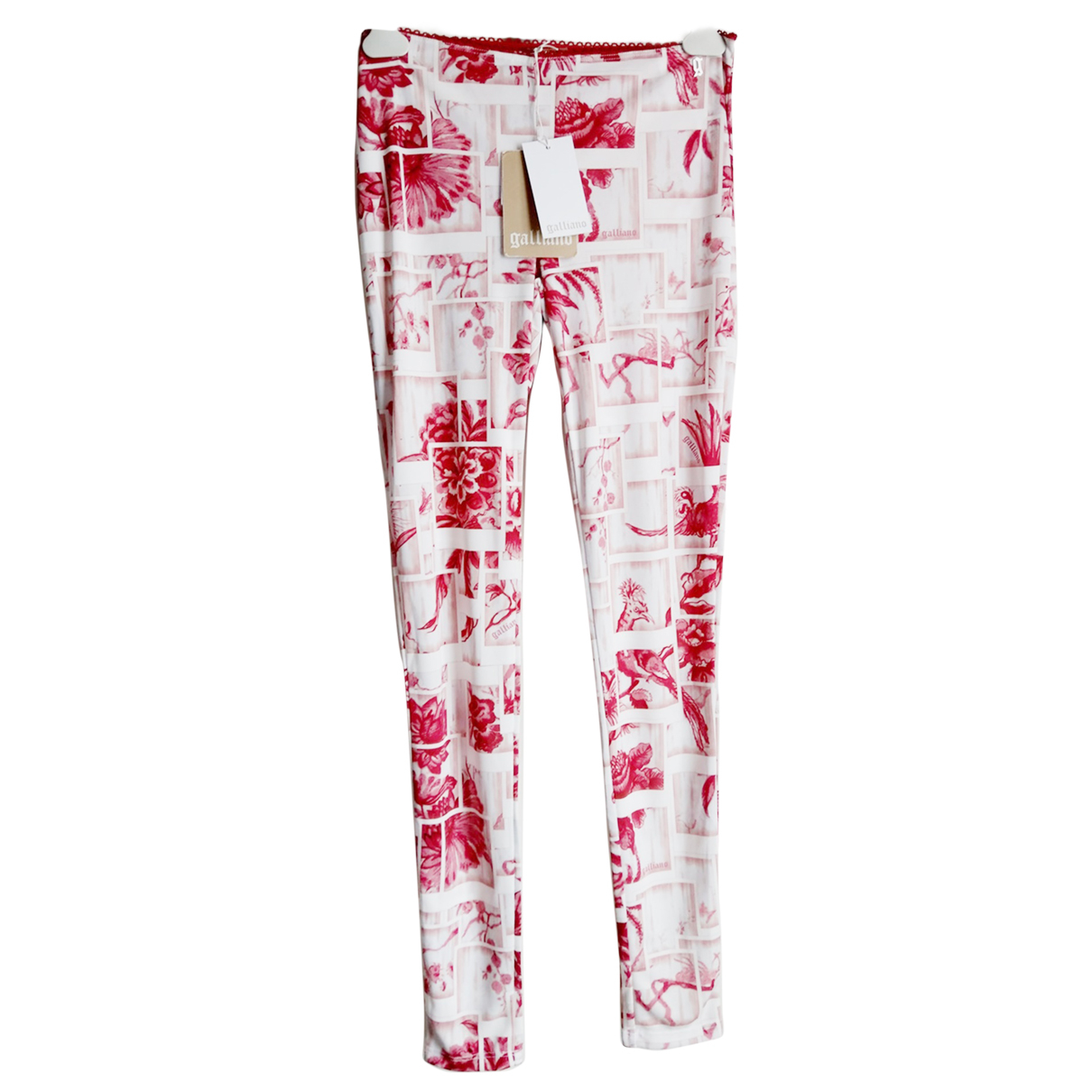 John Galliano \N Pink Trousers for Women 40 FR