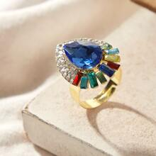 1pc Gemstone Decor Ring