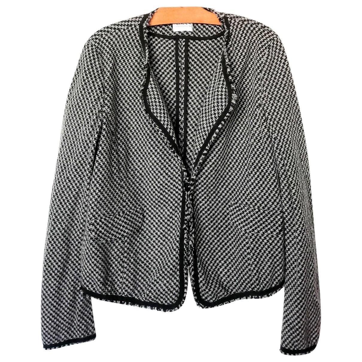 Armani Collezioni \N Jacke in  Schwarz Wolle