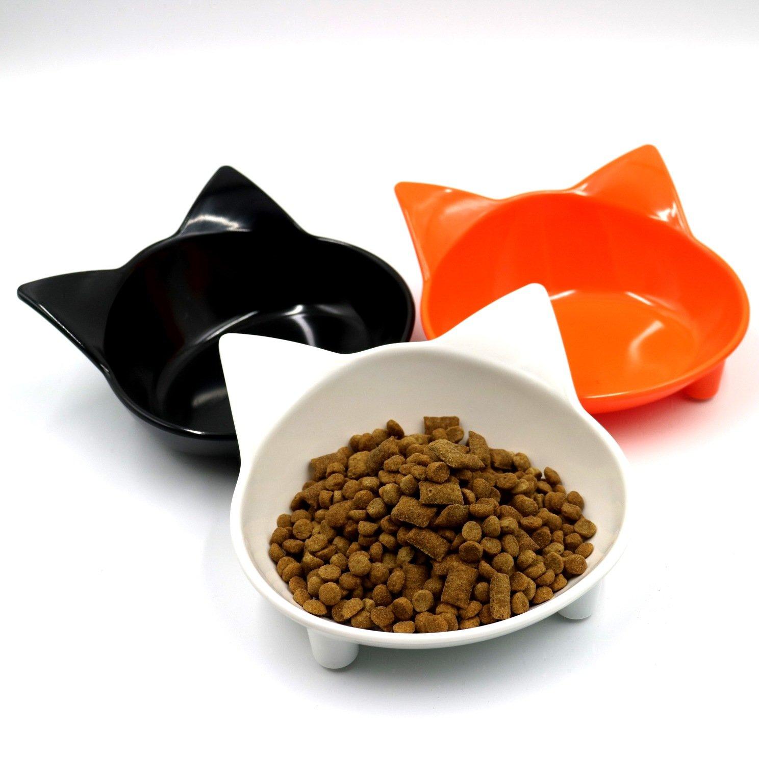 Melamine Material Cat Type Pet Bowl Non-Slip Cute 10 Colors Pet Supplies Cat And Dog Universal