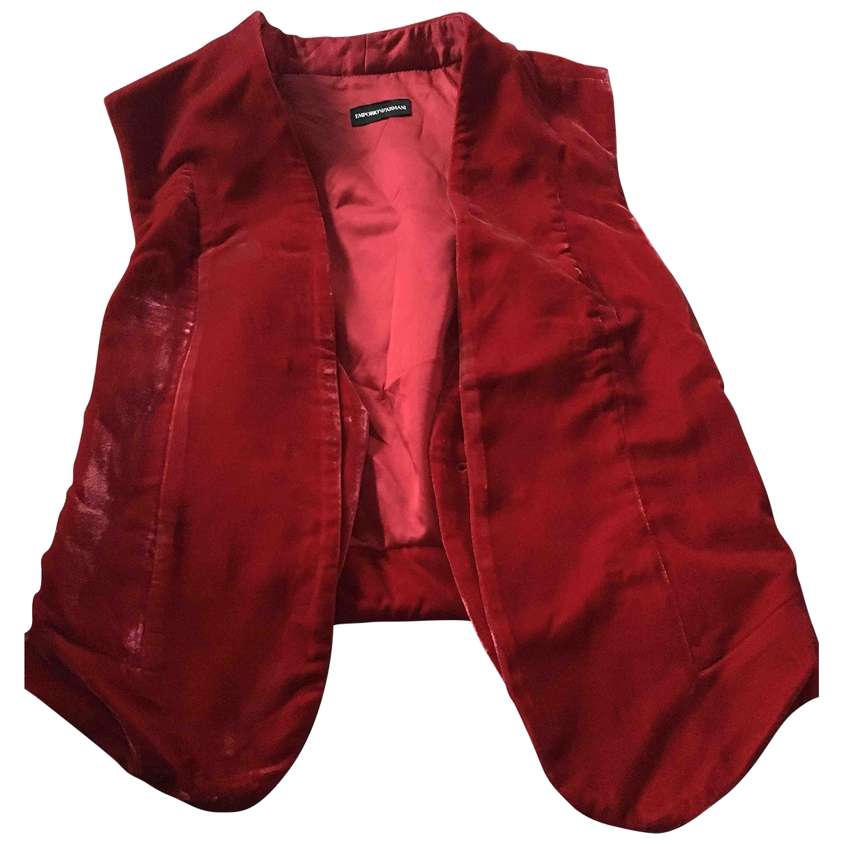 Emporio Armani \N Red Suede jacket for Women 38 IT
