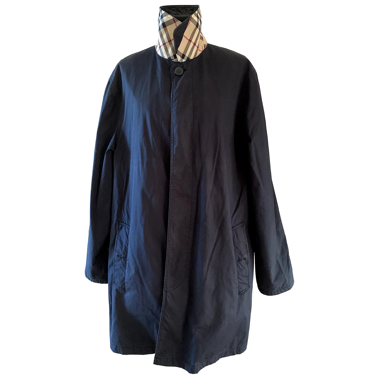 Burberry \N Black Cotton coat  for Men L International