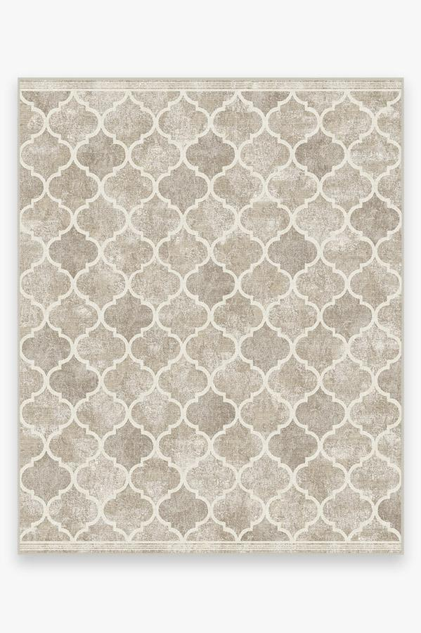 Washable Rug Cover & Pad | Terali Ash Grey Rug | Stain-Resistant | Ruggable | 8'x10'