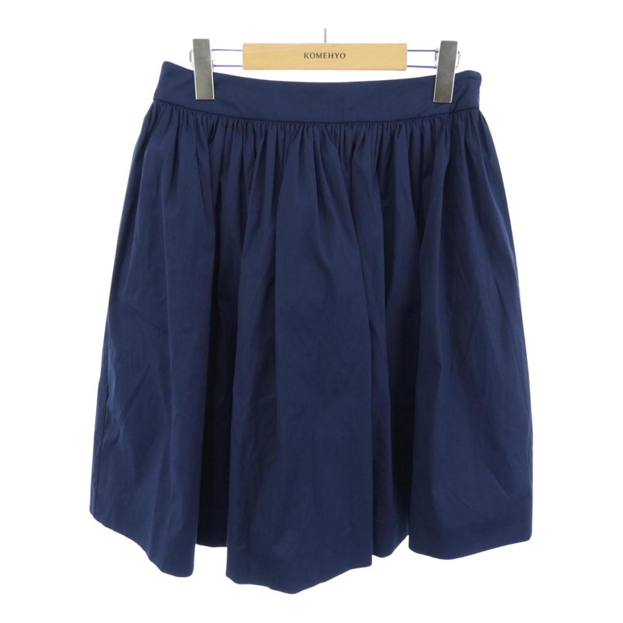 Prada N Navy Cotton skirt for Women 40 IT