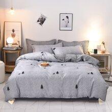 Set de cama con estampado de alce sin relleno