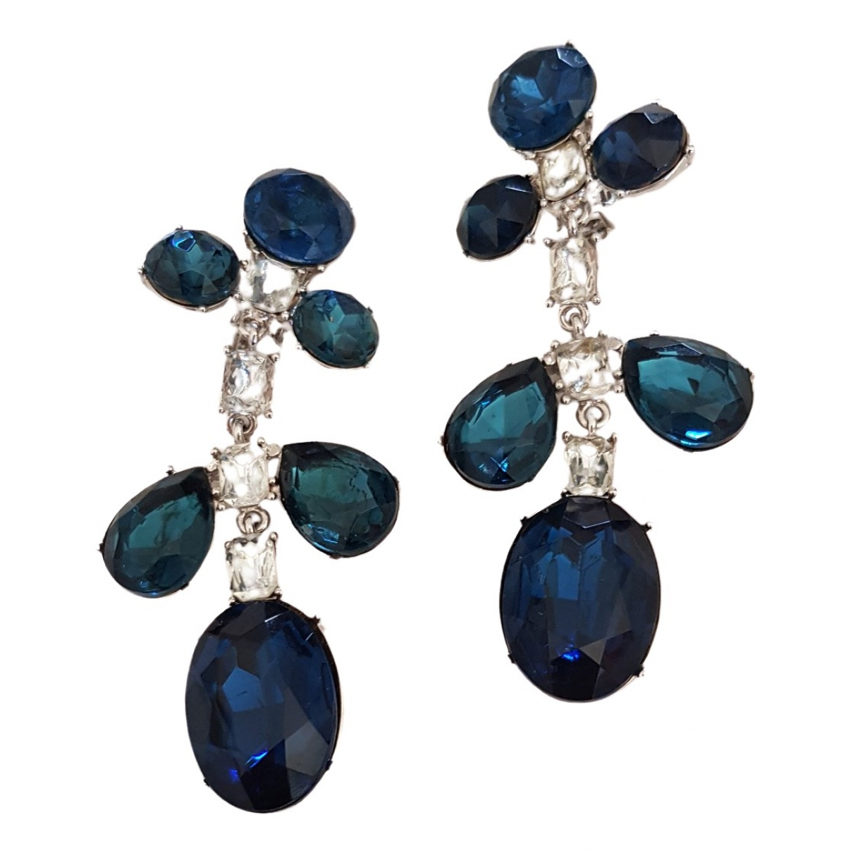 Kenneth Jay Lane \N Blue Silver Plated Earrings for Women \N