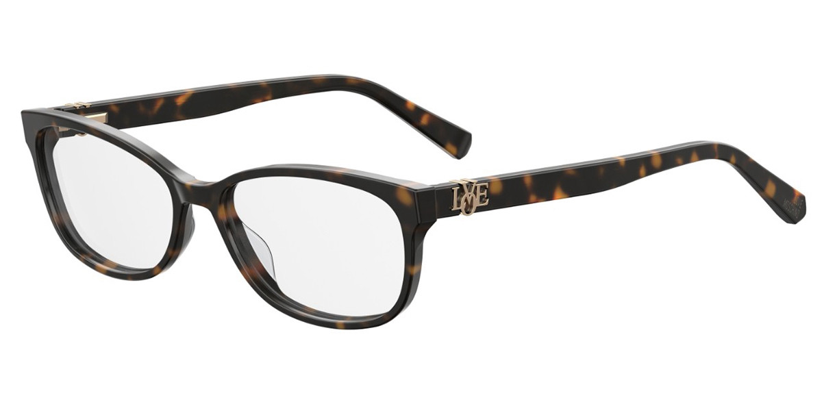 Moschino Love MOL522 086 Women's Glasses Tortoise Size 55 - Free Lenses - HSA/FSA Insurance - Blue Light Block Available