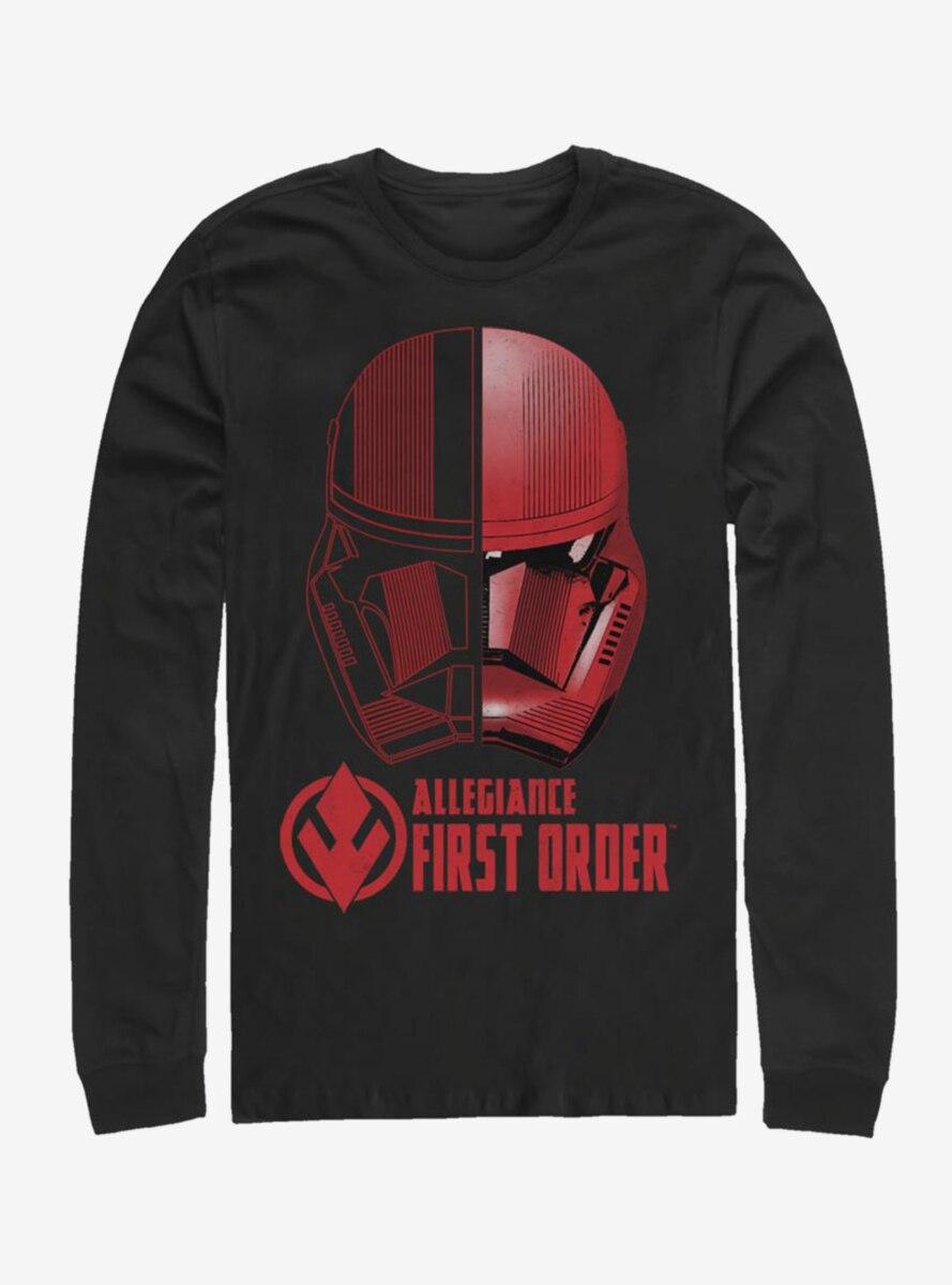 Star Wars Episode IX The Rise Of Skywalker Split Sith Trooper Long-Sleeve T-Shirt