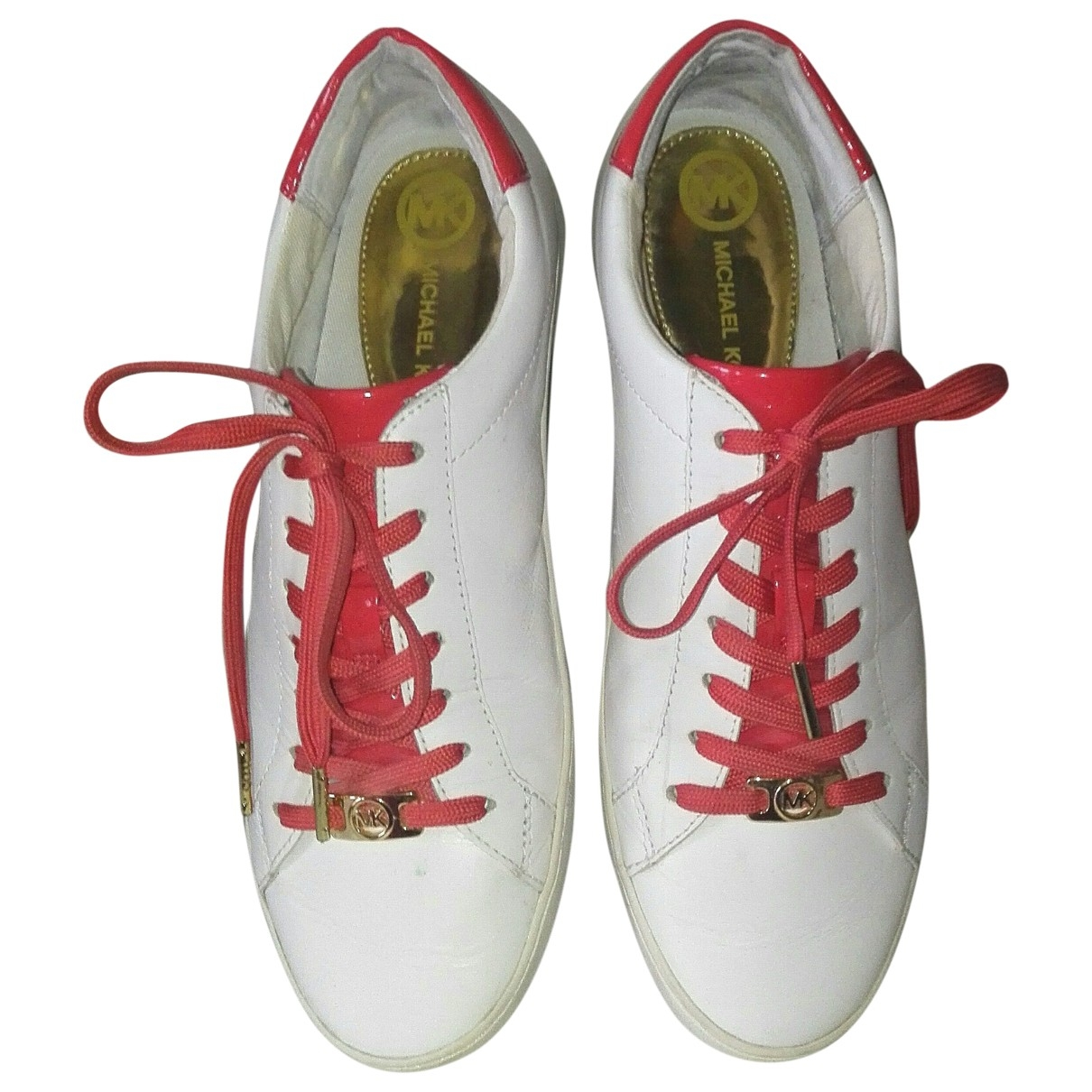 Michael Kors \N White Leather Trainers for Women 8.5 US