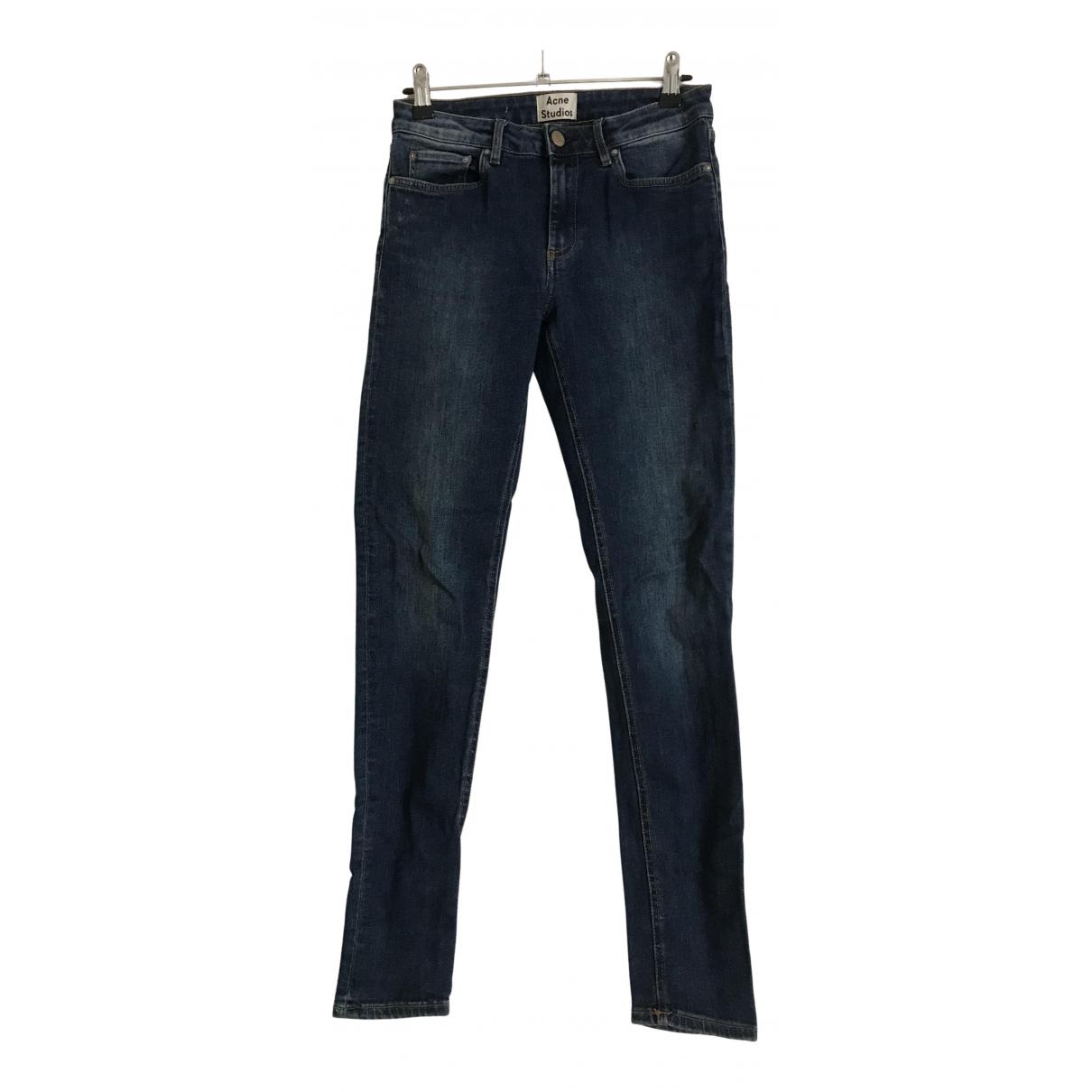 Acne Studios Skin 5 Blue Cotton Jeans for Women 27 US