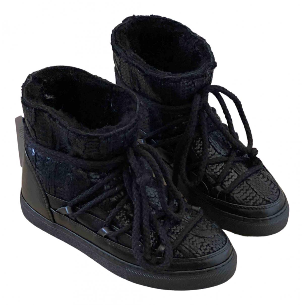 Inuikii - Bottes   pour femme en cuir - noir