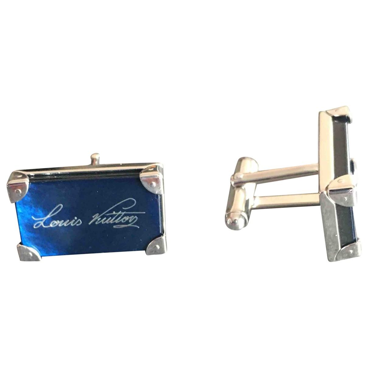 Louis Vuitton \N Manschettenknopfe in  Blau Silber