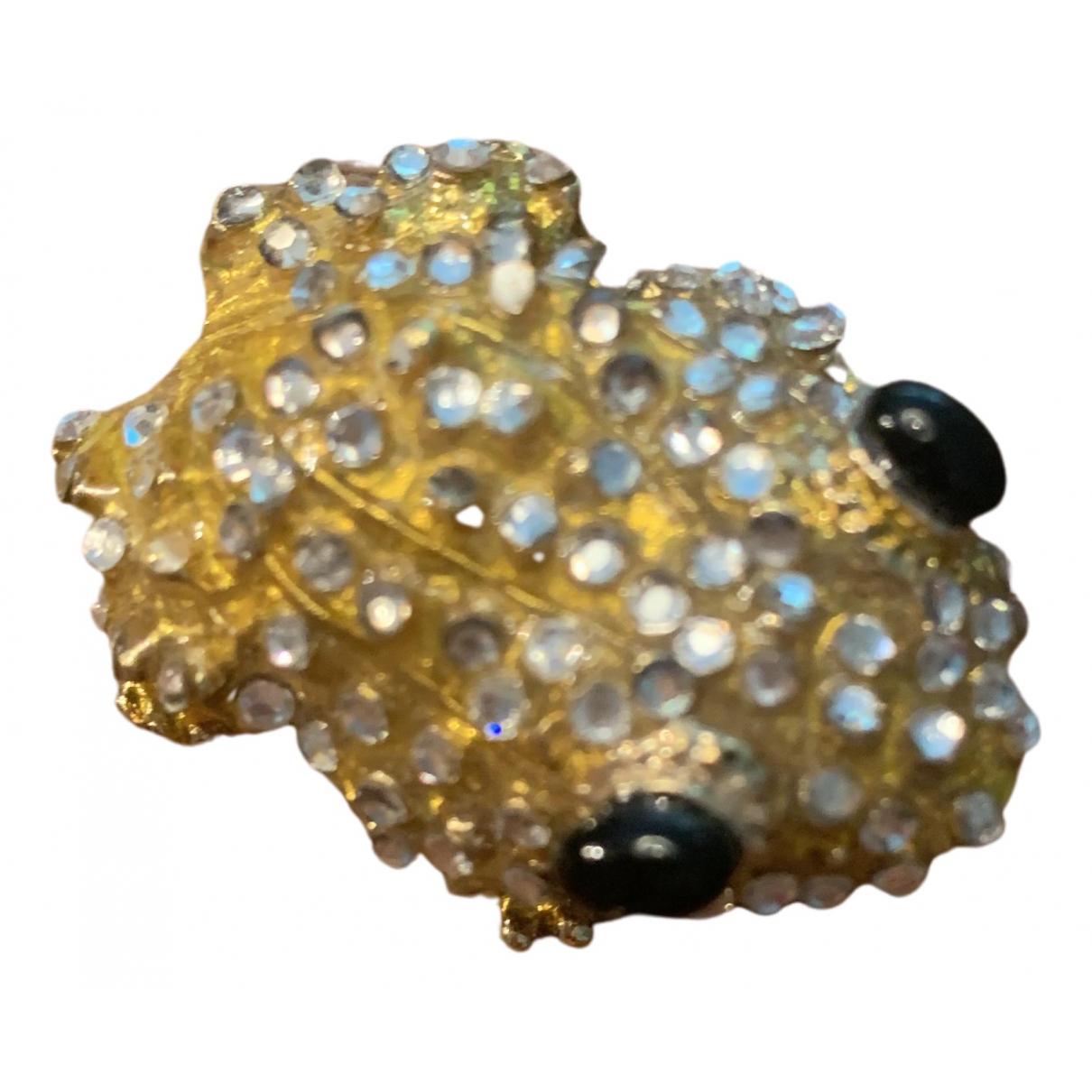 Blumarine - Broche   pour femme en metal - jaune