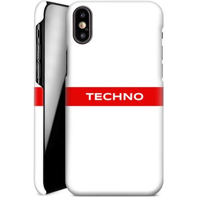 Apple iPhone XS Smartphone Huelle - RED LINE von Berlin Techno Collective