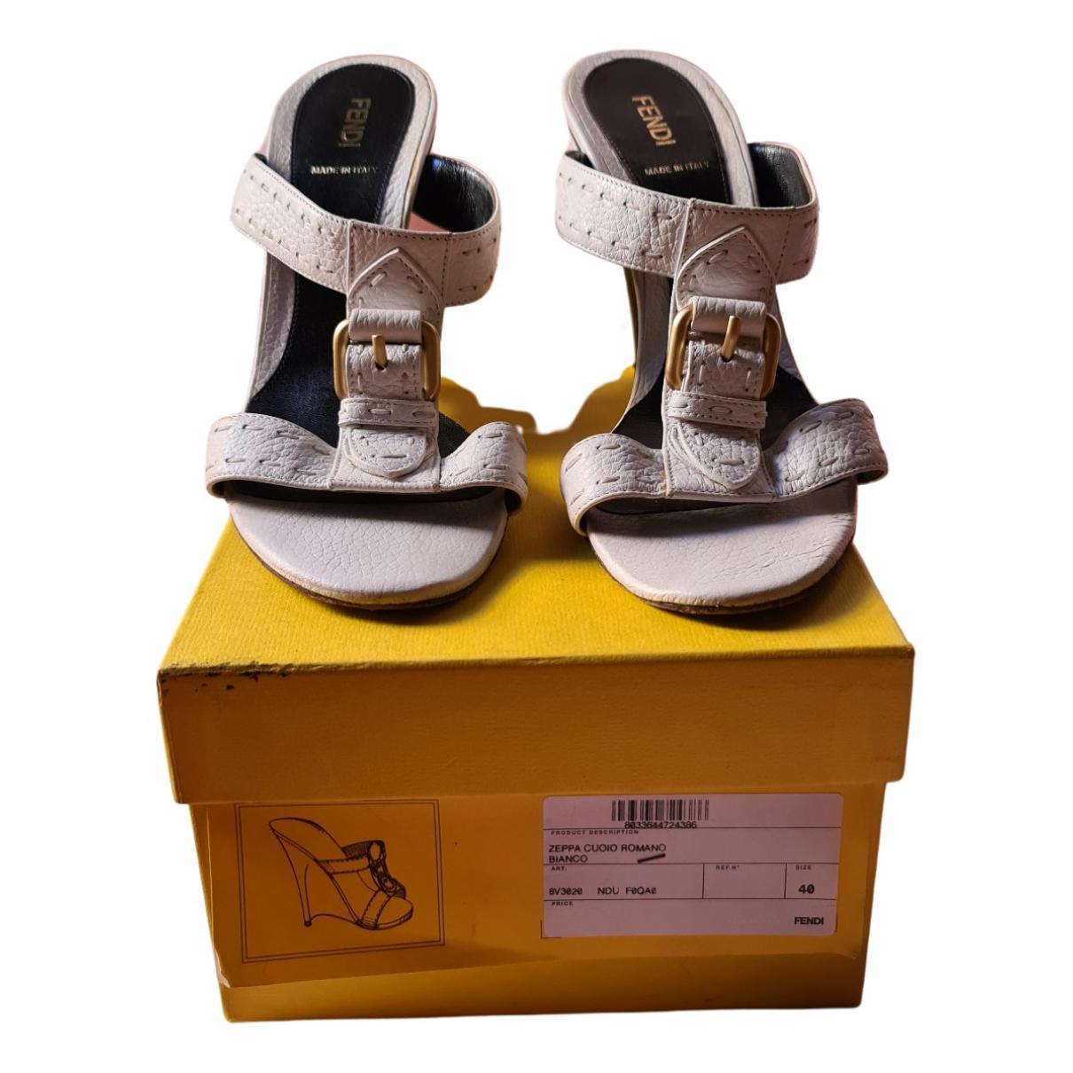 Fendi \N Beige Suede Sandals for Women 40 EU