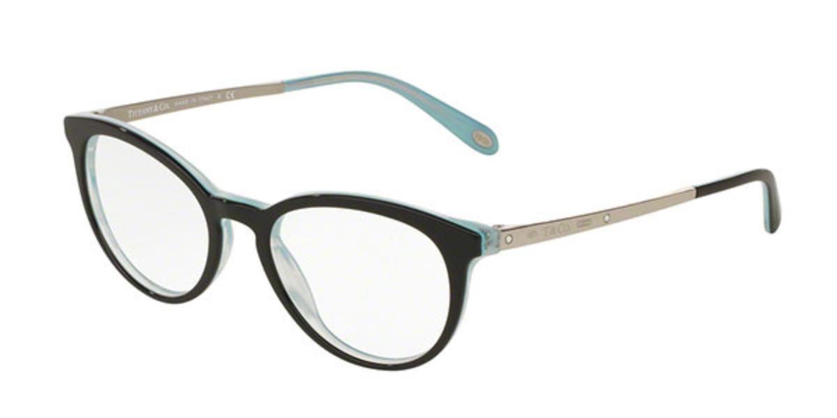 Tiffany & Co. TF2128BF Asian Fit 8193 Women's Glasses Black Size 50 - Free Lenses - HSA/FSA Insurance - Blue Light Block Available