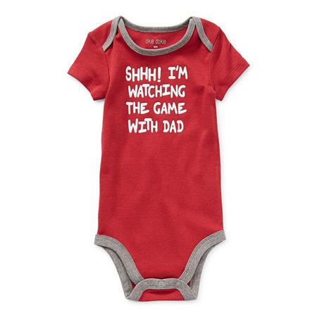 Okie Dokie Baby Boys Bodysuit, 18 Months , Red