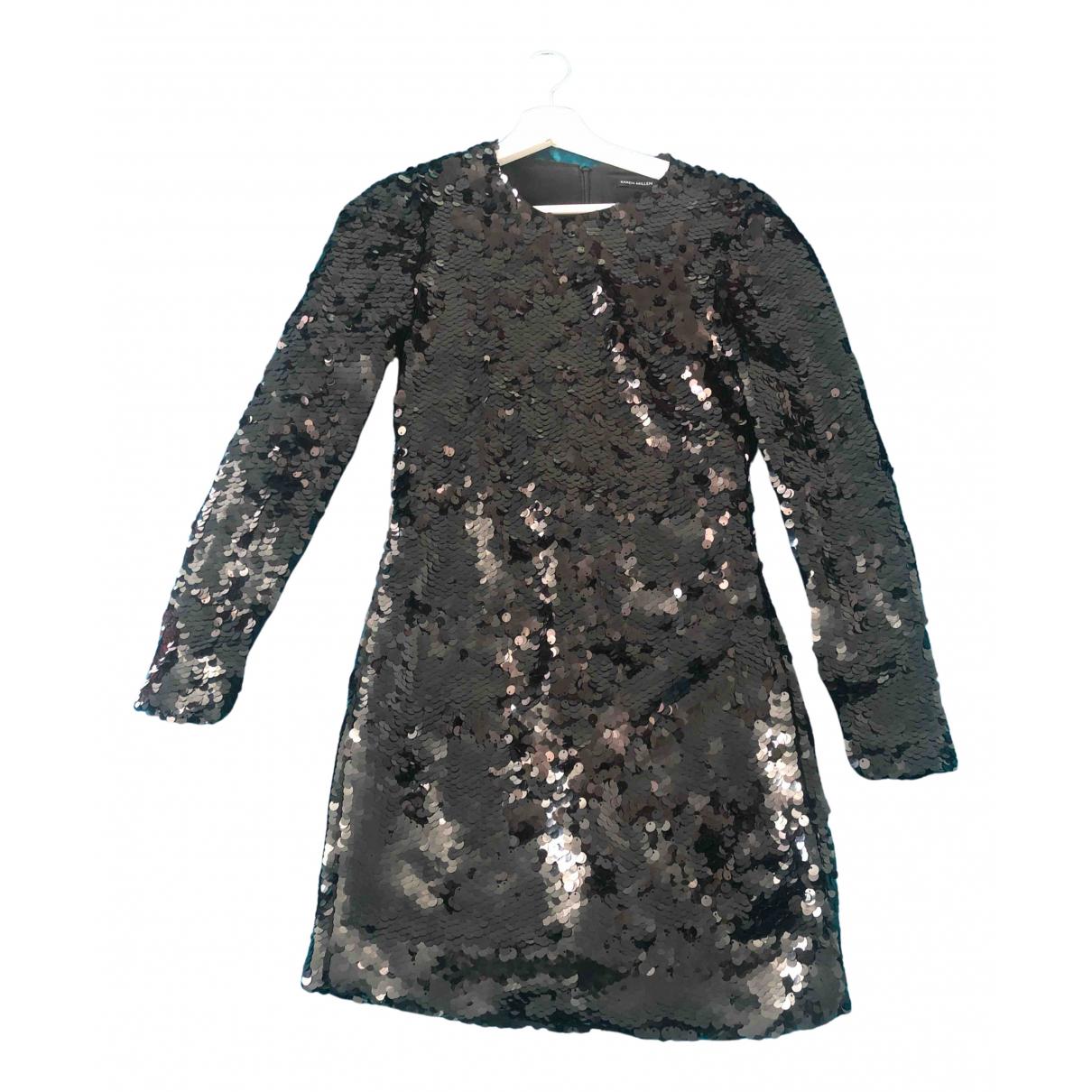 Karen Millen \N Kleid in  Schwarz Mit Pailletten