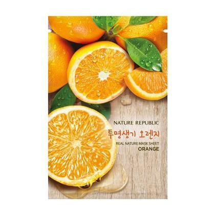 NATURE REPUBLIC Feuille de masque Real Nature, orange, 1 pc