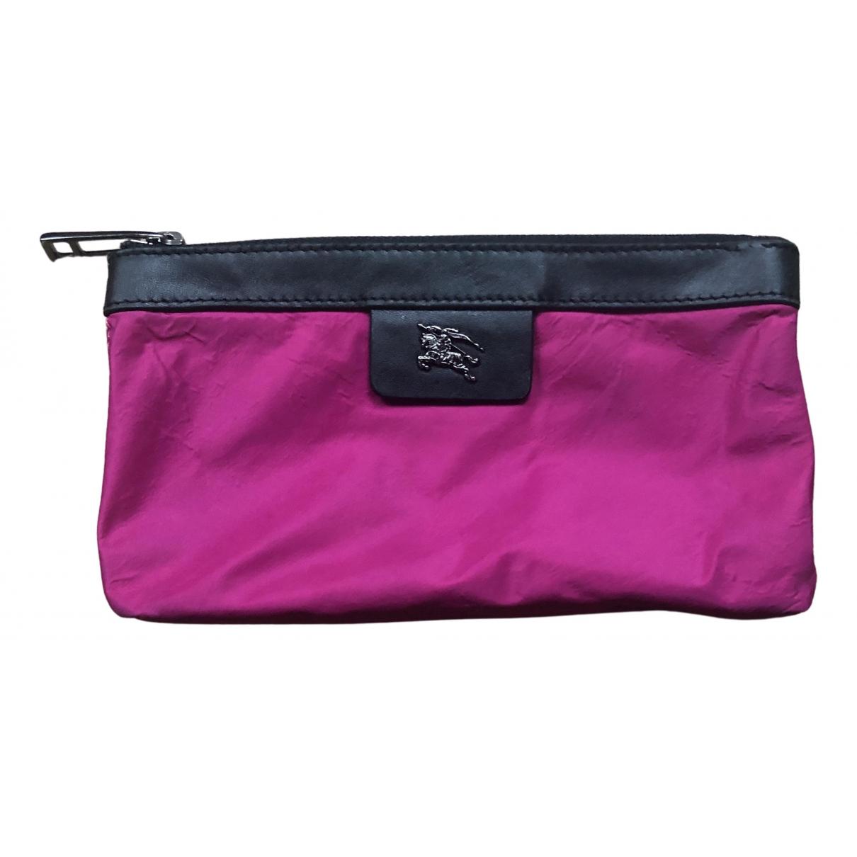 Burberry - Petite maroquinerie   pour femme en toile - rose