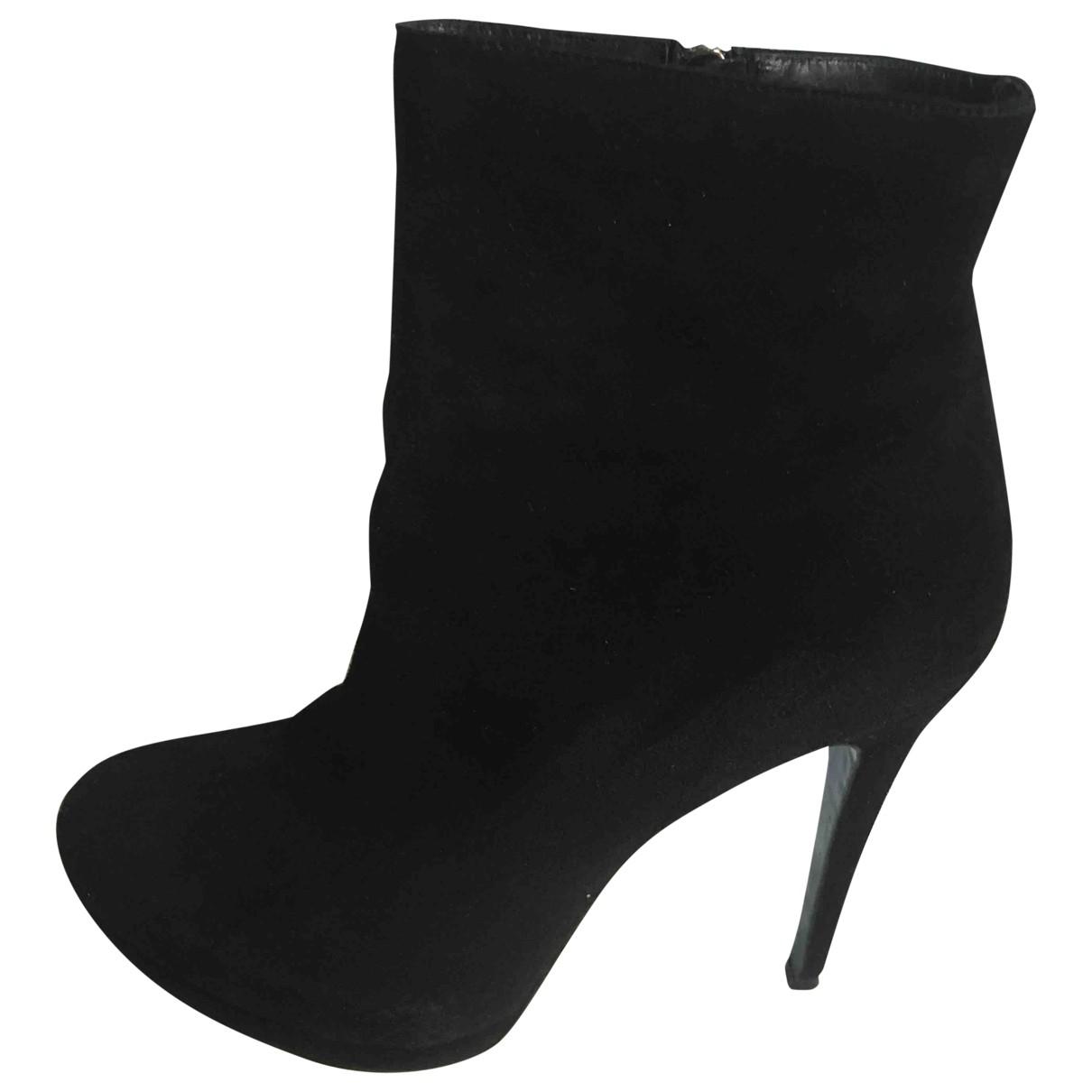 Guido Pasquali - Boots   pour femme en suede - noir