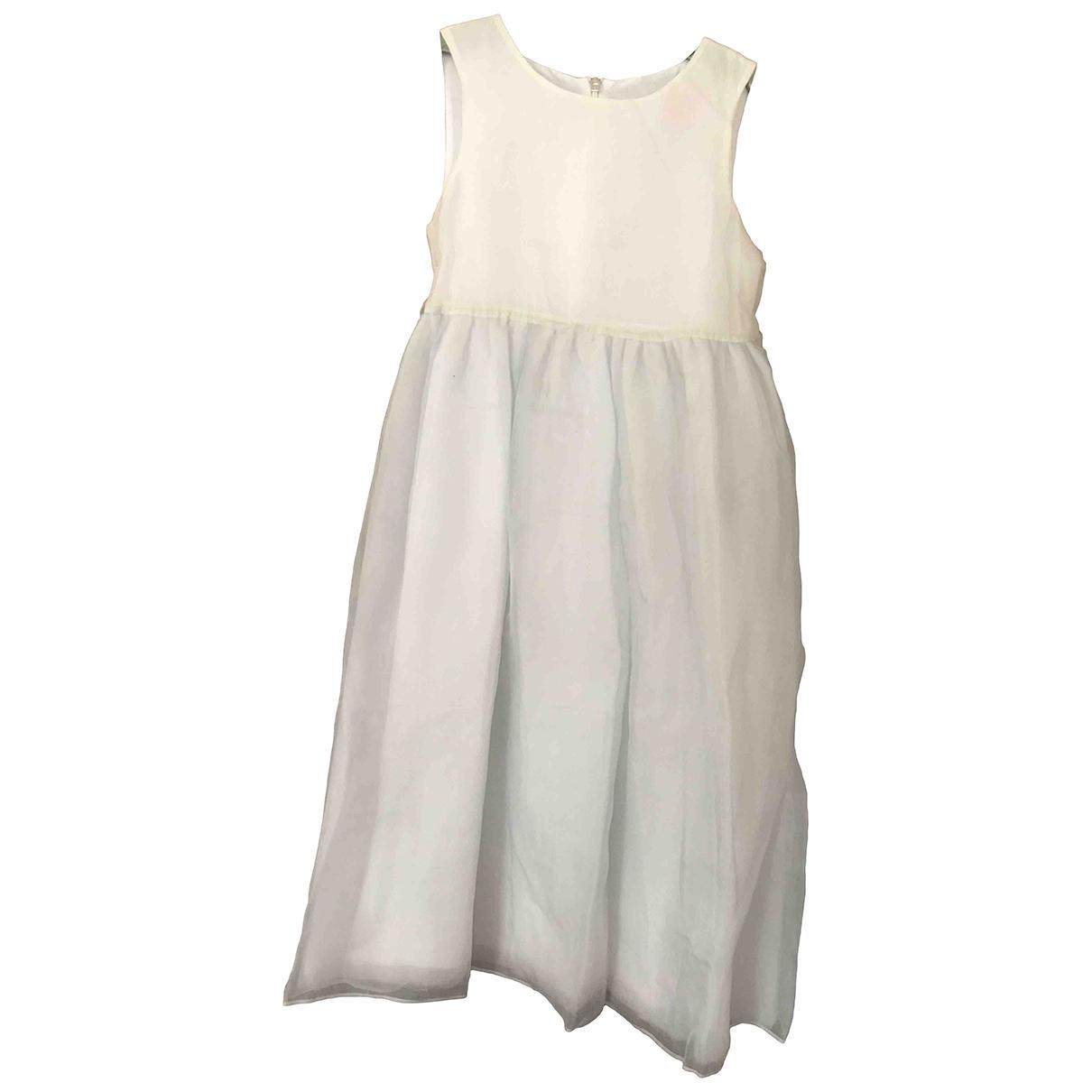 - Robe    pour enfant en soie - blanc