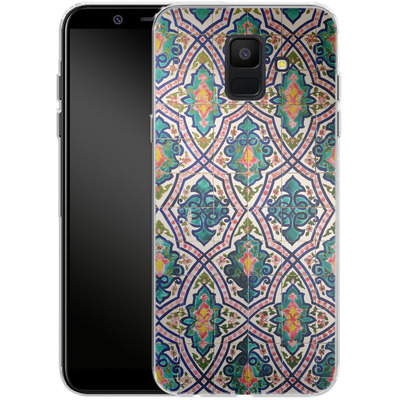 Samsung Galaxy A6 Silikon Handyhuelle - Tile Pattern von Omid Scheybani