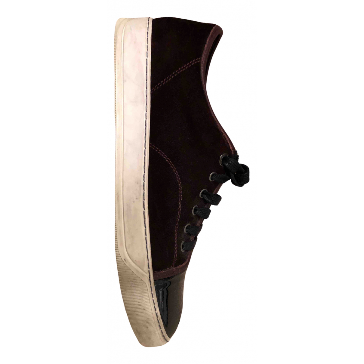 Lanvin N Burgundy Patent leather Trainers for Men 41 EU