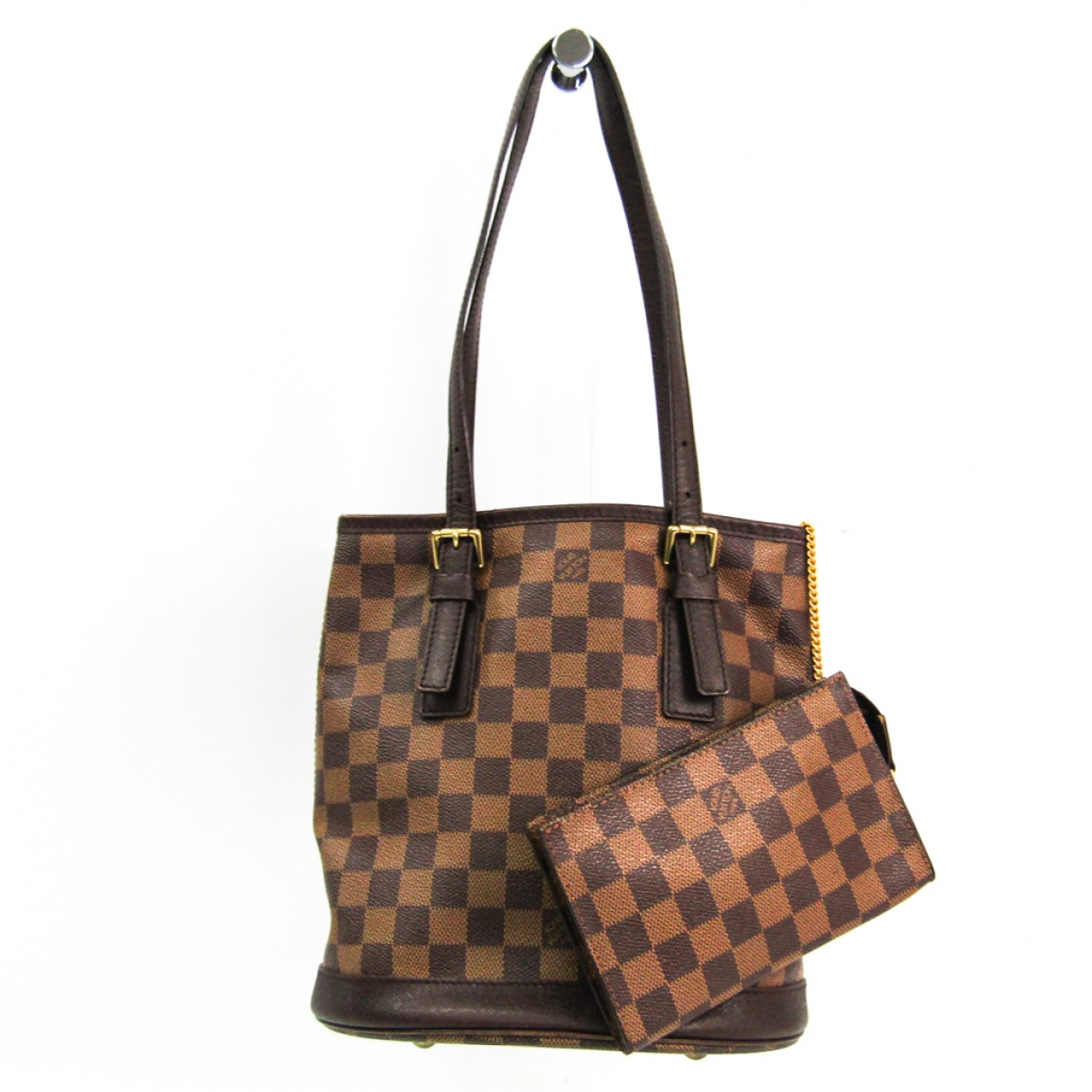 Louis Vuitton Bucket  Brown Cloth handbag for Women \N
